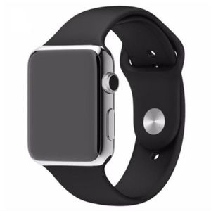 NEW Black Silicone Sport Band For Apple Watch